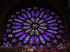 Rose window in Basilica of St Denis, France, depicting the ancestors of Jesus from Jesse onwards.