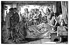 Jacob Blesses His Sons and Prophesies on His Deathbed - Unknown artist