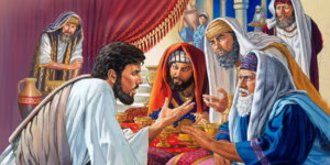 Jesus condemns Pharisees for their religious traditions and hypocrisy - Unknown artist