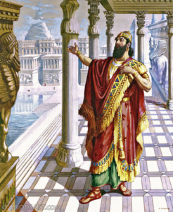 King Nebuchadnezzar in Babylon