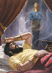 Nebuchadnezzar dreaming of the statue of gold, silver, bronze, iron, and clay - Unknown artist