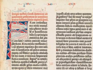 Page from Gutenberg Bible