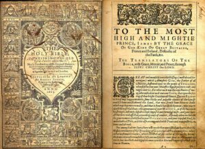 Pages from original 1611 copy of King James Version Bible
