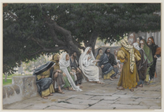 The Pharisees and the Saduccees Come to Tempt Jesus - James Tissot (1886-1894)