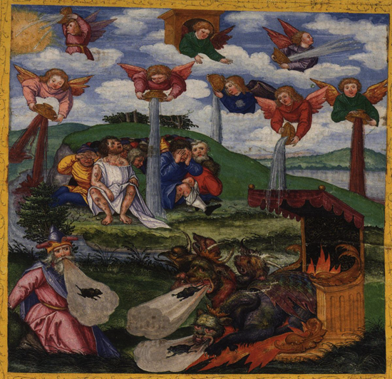The Giving of the Seven Bowls of Wrath The First Six Plagues - Matthias Gerung (1531)