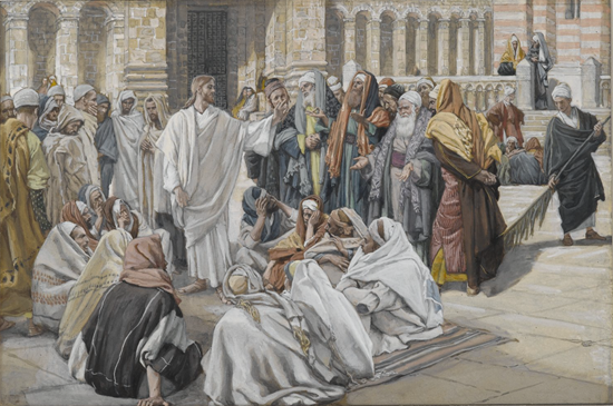 The Pharisees Question Jesus - James Tissot (1886-1894)